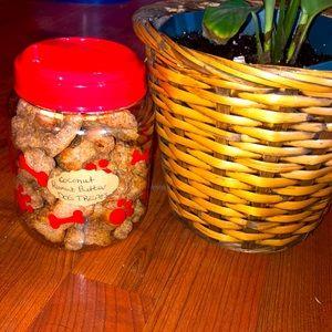 Homemade coconut peanut butter dog treats
